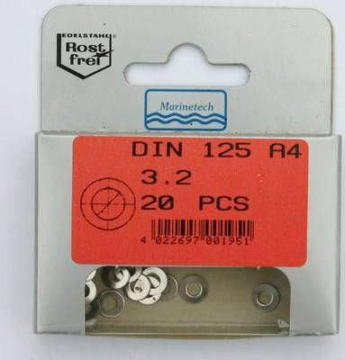 Blisterpack Unterlegscheibe 3,2 mm