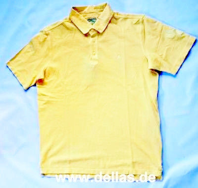 CANVAS COLLAR Polo-Shirt kurzärmlig Butter