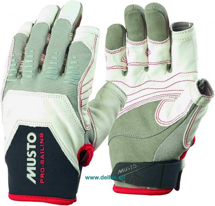 Segelhandschuhe MUSTO EVO Gloves 2 Finger geschnitten weiß