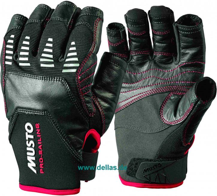 Segelhandschuhe MUSTO EVO Gloves, 5 Finger geschnitten schwarz