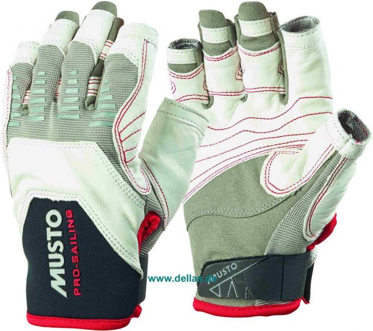 Segelhandschuhe MUSTO EVO Gloves, 5 Finger geschnitten weiß