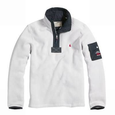 MUSTO Branded Half Zip Fleece Pullover