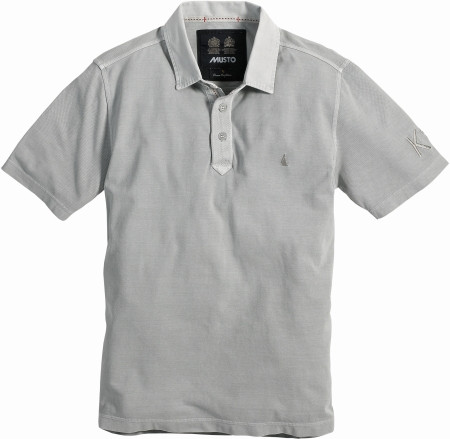 Musto Canvas Collar Polo-Shirt kurzärmlig Grau