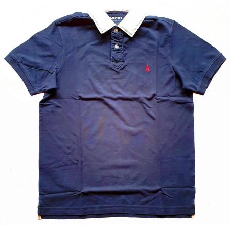Musto GBR Applique Polo-Shirt kurzärmlig Blau