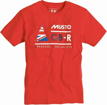 Musto GBR T-Shirt Rot Größe XXL
