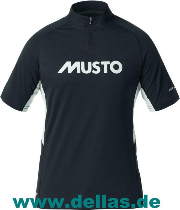 MUSTO ESSENTIAL EVO UV FD Z-Neck Shirt kurzärmlig (SPF 40) Herren XXXL