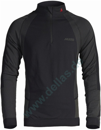 MUSTO Aktive Thermal Zip Neck Top - langämliges Top mit RV