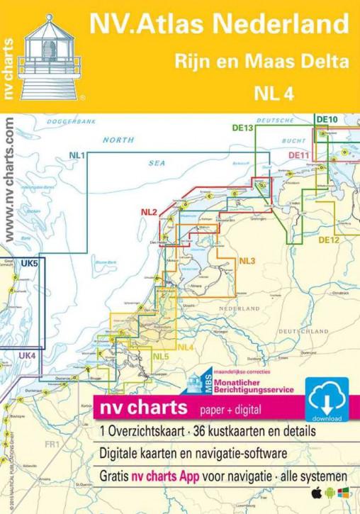 Sportbootkartensatz NV.Atlas Nederland NL4