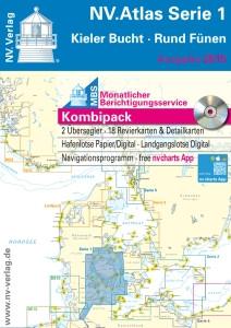 Sportschiffahrtskarten NV. Serie 1, Rund Fünen - Kieler Bucht - Atlas