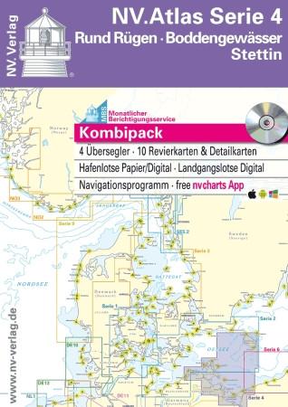 Sportschifffahrtskarten NV. Serie 4, Rund Rügen - Boddengewässer - Stettin - Atlas