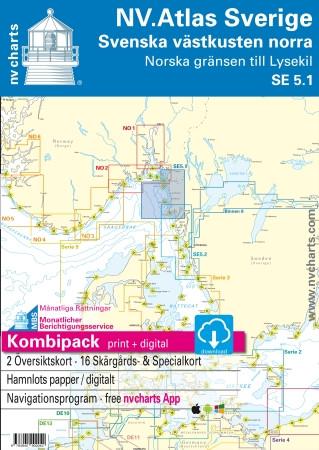 Sportschifffahrtskarten NV. Sverige SE 5.1, Svenska västkusten norra - Norska grensen till Lysekil - Atlas