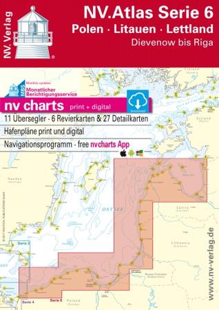Sportschifffahrtskarten NV. Serie 6, Polen - Litauen - Lettland - Atlas