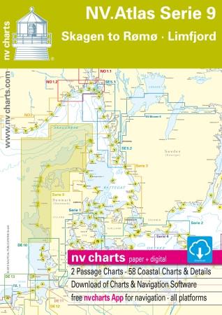 Sportschifffahrtskarten NV. Serie 9, Skagen to Rømø & Limfjord