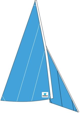 Trainings-/Schulsegel für Laser® Pico, Großsegel und Fock
