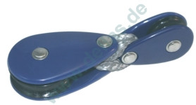Travellerblöcke mit Tauwerk verbunden für Laser