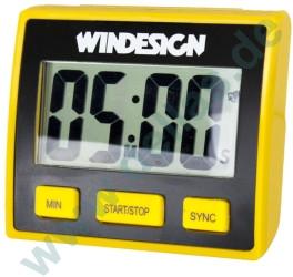 Regattauhr WinDesign Digital Regatta Timer schwarz/gelb