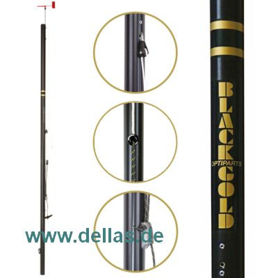 OPTIPARTS BLACKLITE-Mast mit Rigging Pack