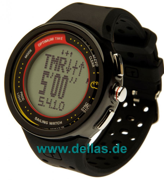 Regattauhr OPTIMUM Time OS 1231r Schwarz (Batterie aufladbar)