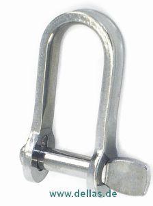 Schlüsselschäkel Flachschäkel ohne Steg
