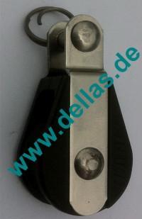 19 mm MACRO Kugellagerblock, einfach mit Gabelkopf