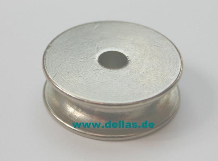 30 mm Scheibe, Messing vernickelt, mit 6 mm Bohrung