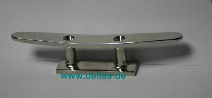 Belegklampe Edelstahl 2-Loch 100 mm AISI316