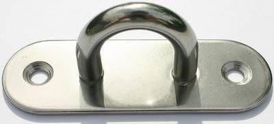 Augplatte oval