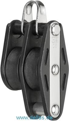 Block mit 2 Rollen 8 mm mit Bügel und Hundsfott, SPRENGER HS