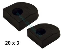 SPRENGER Endstücke für 20 x 3 mm T-Profil - Paar