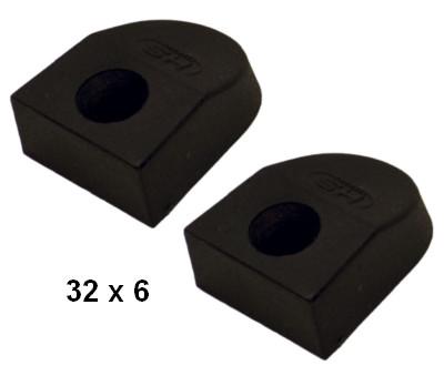 SPRENGER Endstücke für 32 x 6 mm T-Schiene - Paar -