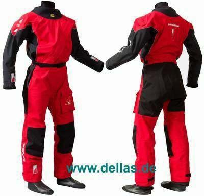 Sandiline Trockenanzug PRO II Front Zip Drysuit Rot