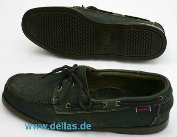 Herren-Bootsschuhe SEBAGO DOCKSIDES, Moss, Größe 46