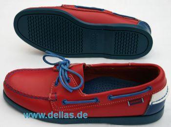 Herren-Bootsschuhe SEBAGO DOCKSIDES, Red/Horizont Blue Gr. 43,5