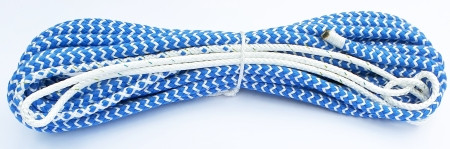 OK Schot 9 m einseitig verjüngt Blau/Weiß