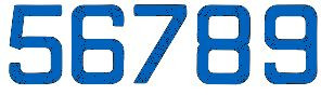 Segelnummern, 235 mm Blau