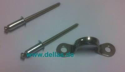 Augbügel mit 2 Monell Nieten 4 mm