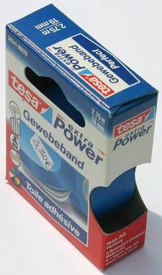 Tesa Gewebeband Blau 19mm