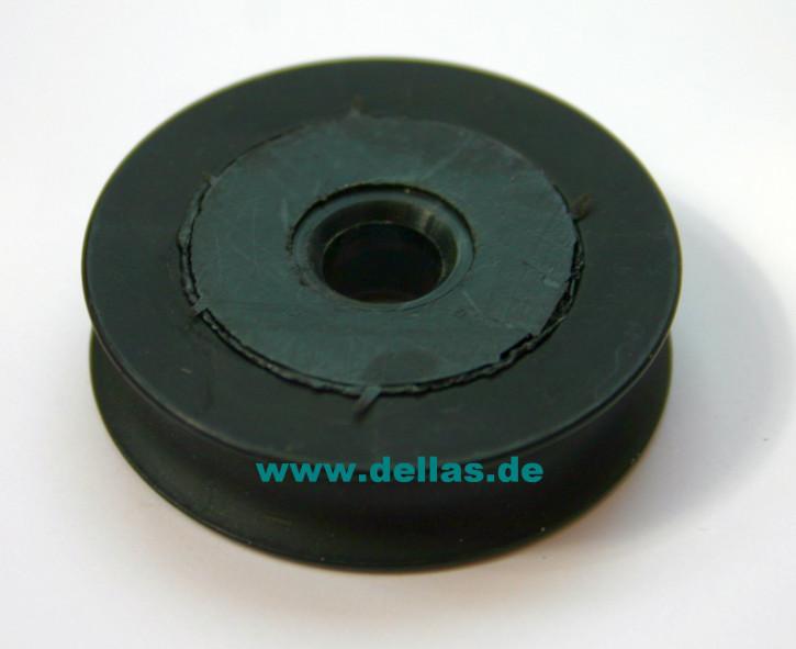 34,1 mm Scheibe Alu Hartanodisiert PTFE mit Kunststoffeinsatz mit 8 mm Bohrung