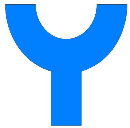 Yngling Klassenzeichen Blau zum Einkleben