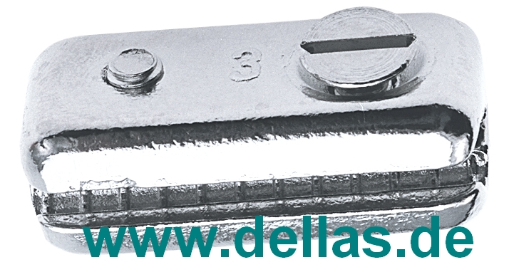 Steuerseilklemme Messing verchromt für 3mm Steuerkabel-LT02.405.003