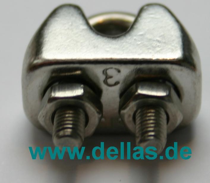 Edelstahl Drahtseilklemme Standard für 3 mm Draht-PF25.1013.03