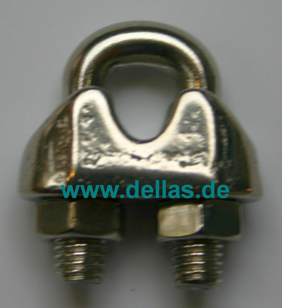Edelstahl Drahtseilklemme Standard für 5 mm Draht-PF25.1013.05
