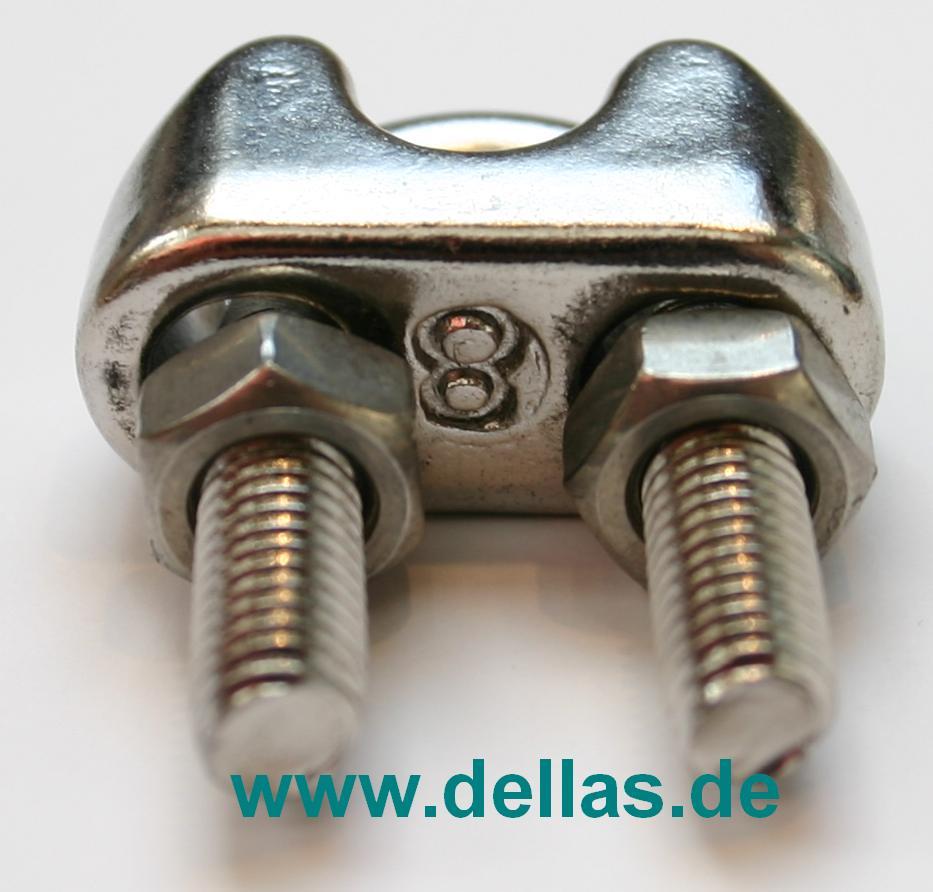 Edelstahl Drahtseilklemme Standard für 8 mm Draht-PF25.1013.08