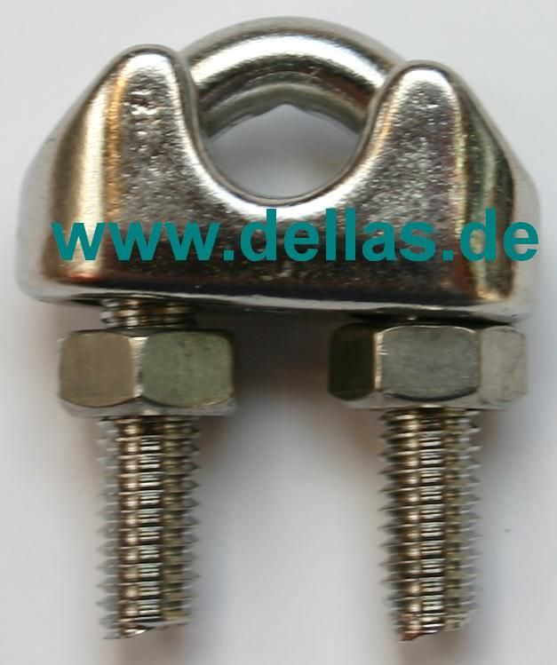 Edelstahl Drahtseilklemme Standard für 10 mm Draht-PF25.1013.10
