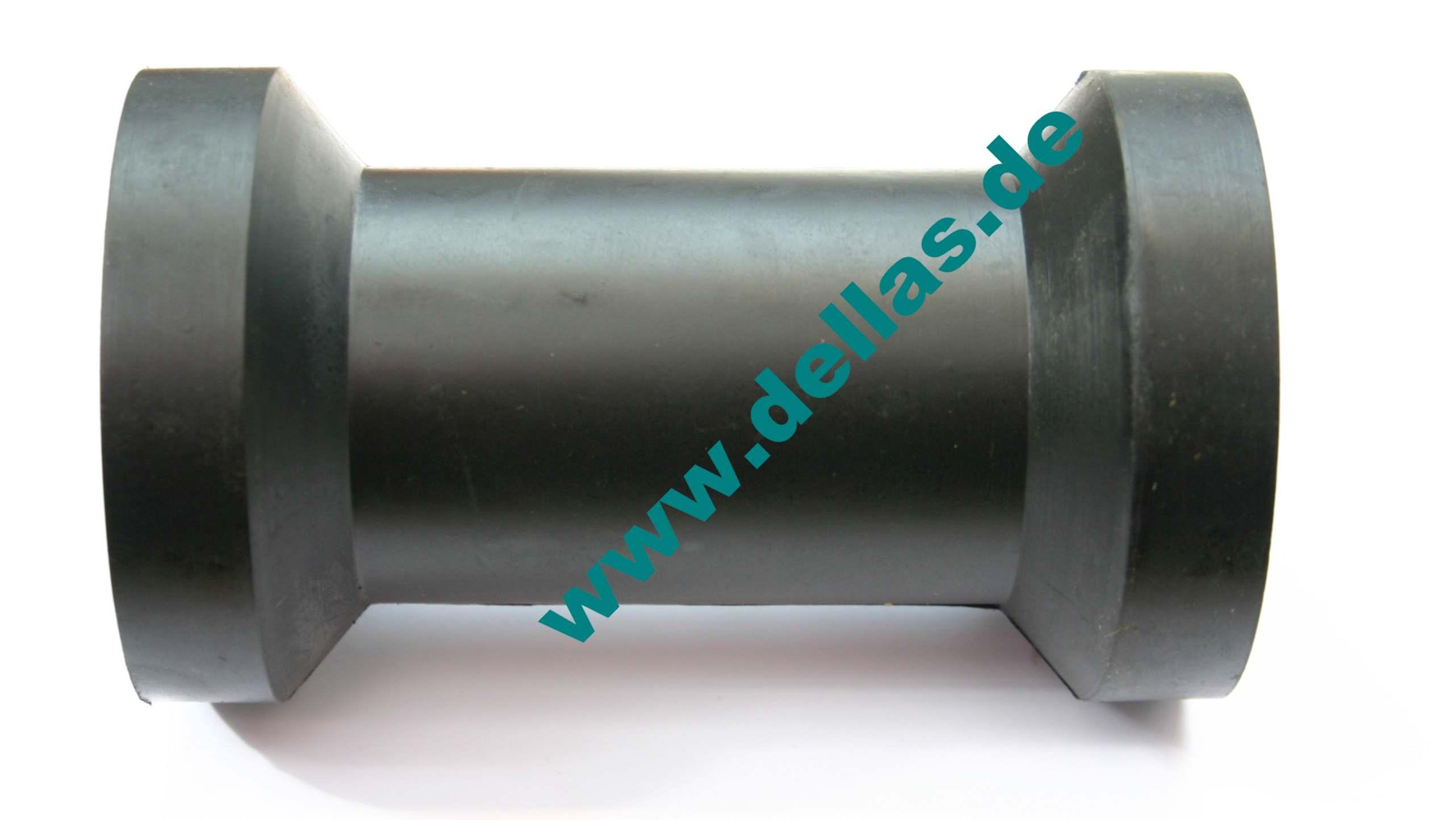 Kielrolle 130 mm Gummi schwarz