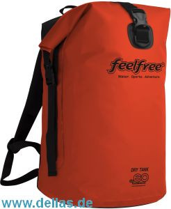 feelfree®GEAR wasserdichter Rucksack DRY TANK 60L Orange