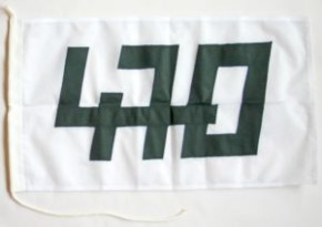 470er Klassenflaggen beidseitig genäht