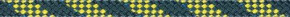Liros Regatta 2000 mit Dyneema®SK78 Kern 4 mm / Stahlblau/gelber Kennfaden