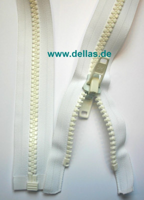 Reißverschluss Acryl 400 cm mit Doppelschieber, teilbar