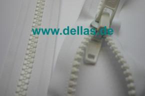Reißverschluss Acryl 225 cm mit Doppelschieber, teilbar